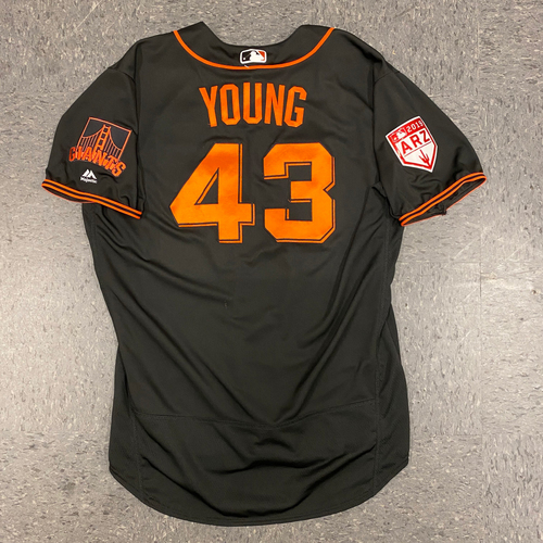 Photo of 2019 Team Issued Spring Training Jersey - #43 Curt Young - Size 50