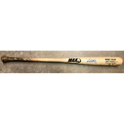 Photo of Rays Baseball Foundation: Team Issued Autographed Bat - Matt Duffy