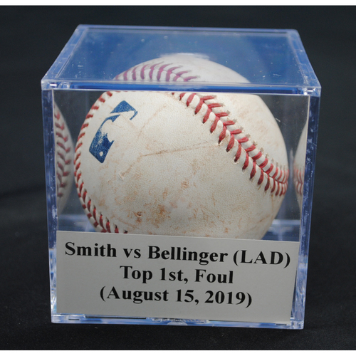 Photo of Game-Used Baseball: Caleb Smith vs Cody Bellinger (LAD), Top 1st, Foul (August 15, 2019)