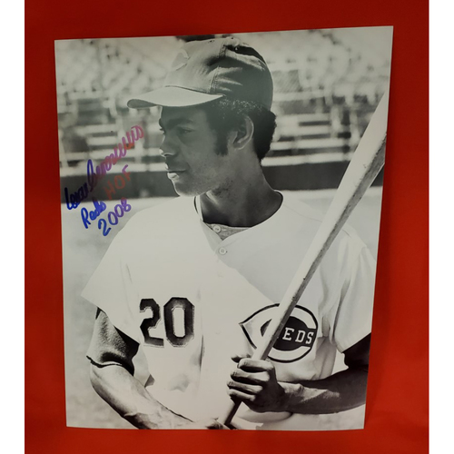 "Photo of Cesar Geronimo Autographed Photo ""Reds HOF 2008"""
