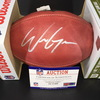 NFL - Panthers Will Grier Signed Authentic Football