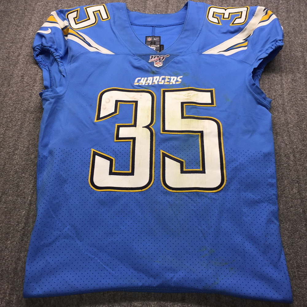 NFL Auction | International Series - Chargers Troymaine Pope Game ...