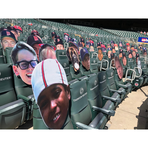 "Photo of ""The Sandlot"" Character Big Heads - Autographed by Twins Players"