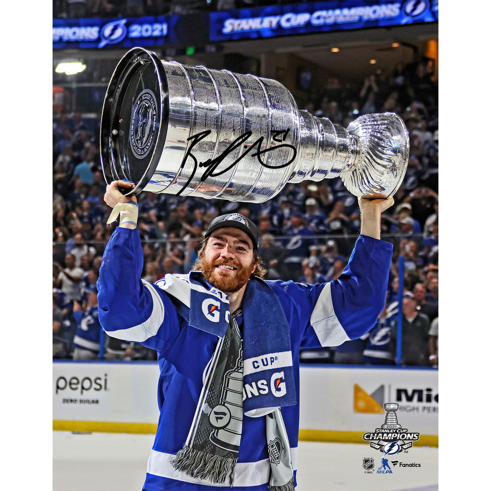 Brayden Point Tampa Bay Lightning 2021 Stanley Cup Champions Autographed 11