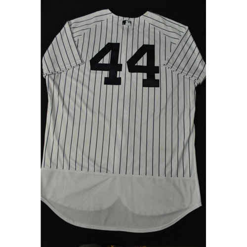 Photo of Hank Aaron Chasing the Dream Foundation: Aaron Judge 2021 MLB All-Star Workout Day BP-Worn # 44 Jersey