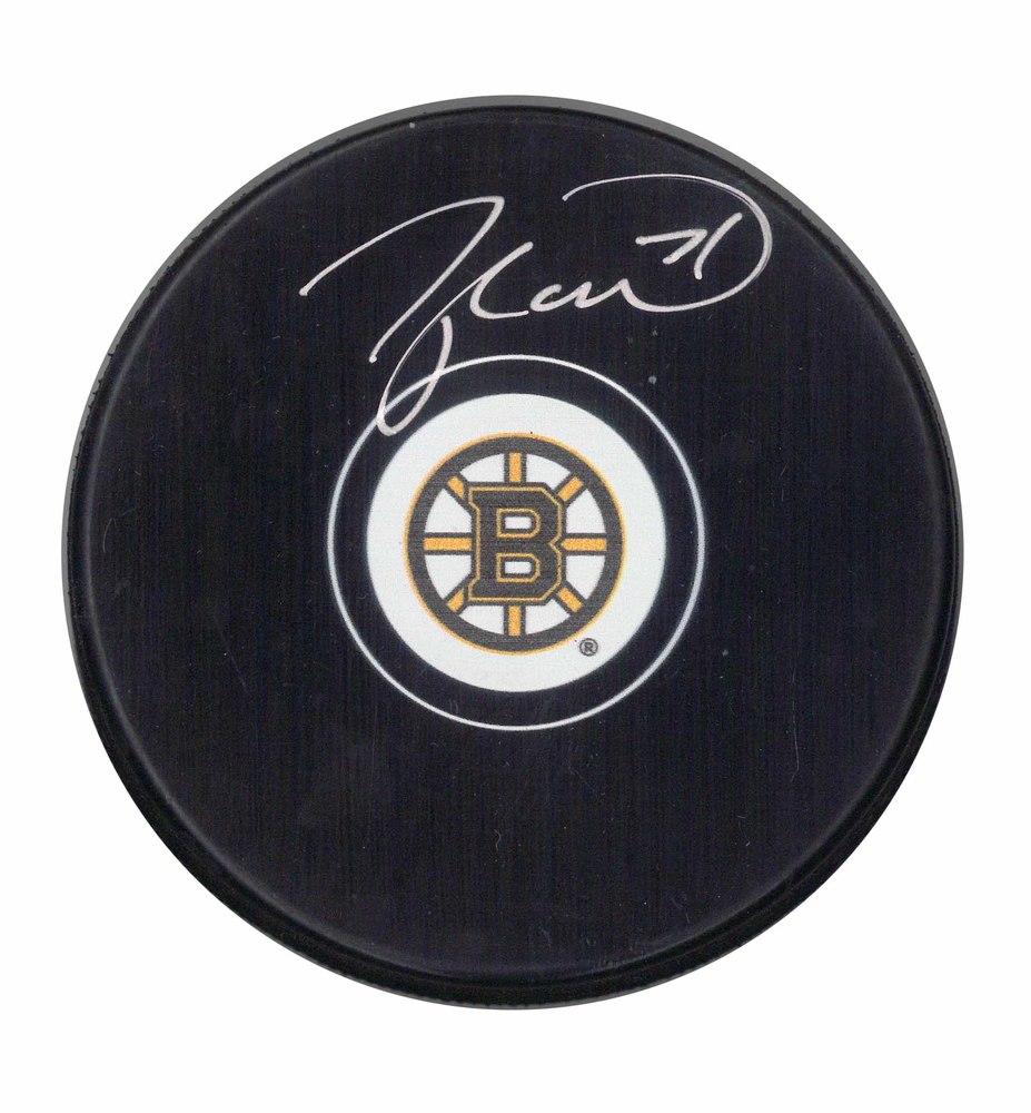Taylor Hall Signed Boston Bruins Puck