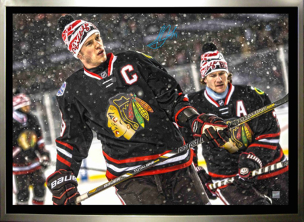 Jonathan Toews - Signed & Framed 20x20