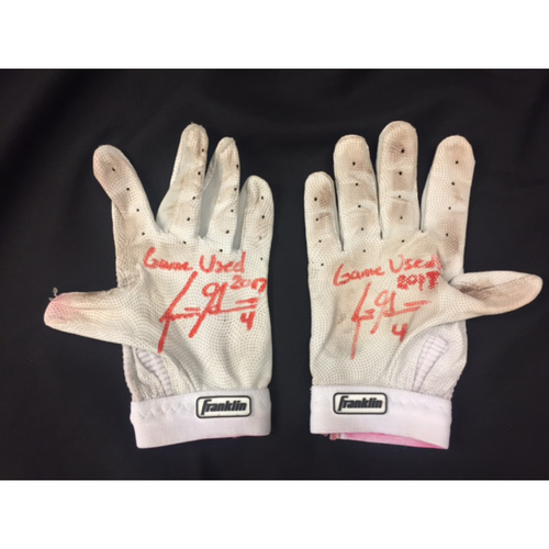 Photo of Scooter Gennett -- Autographed Batting Gloves -- Cincinnati Reds