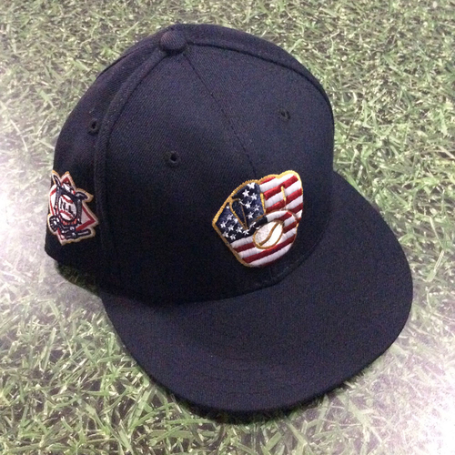 Photo of Jhoulys Chacin Game-Used 2018 Stars & Stripes Cap