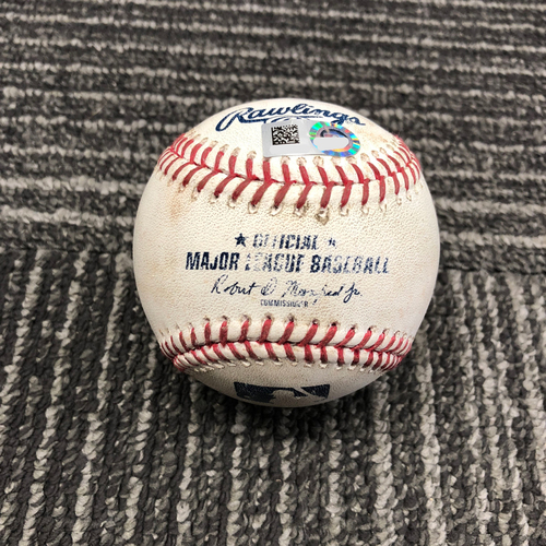Photo of 2017 San Francisco Giants - Game-Used Baseball - Brandon Crawford Double off of Matt Garza - 8/23/17