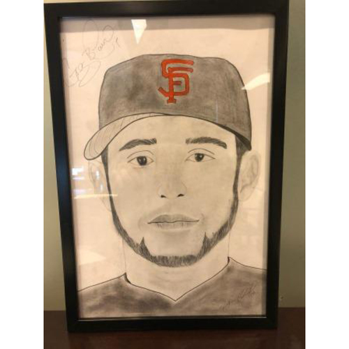 Photo of Giants Community Fund: Gregor Blanco Autographed Sketch by Jose Alguacil