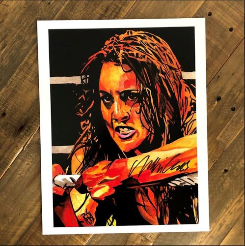 Photo of Nikki Cross SIGNED 11 x 14 Rob Schamberger Print