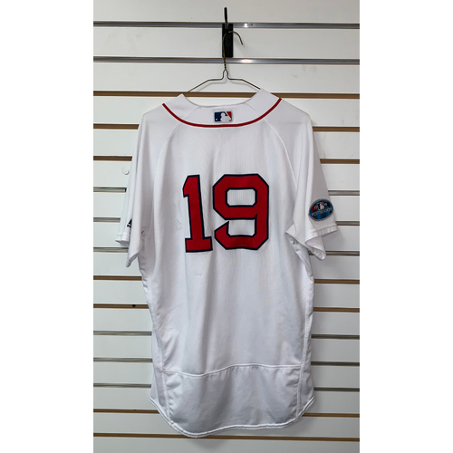 Photo of Jackie Bradley Jr Game Used October 14, 2018 Home Jersey