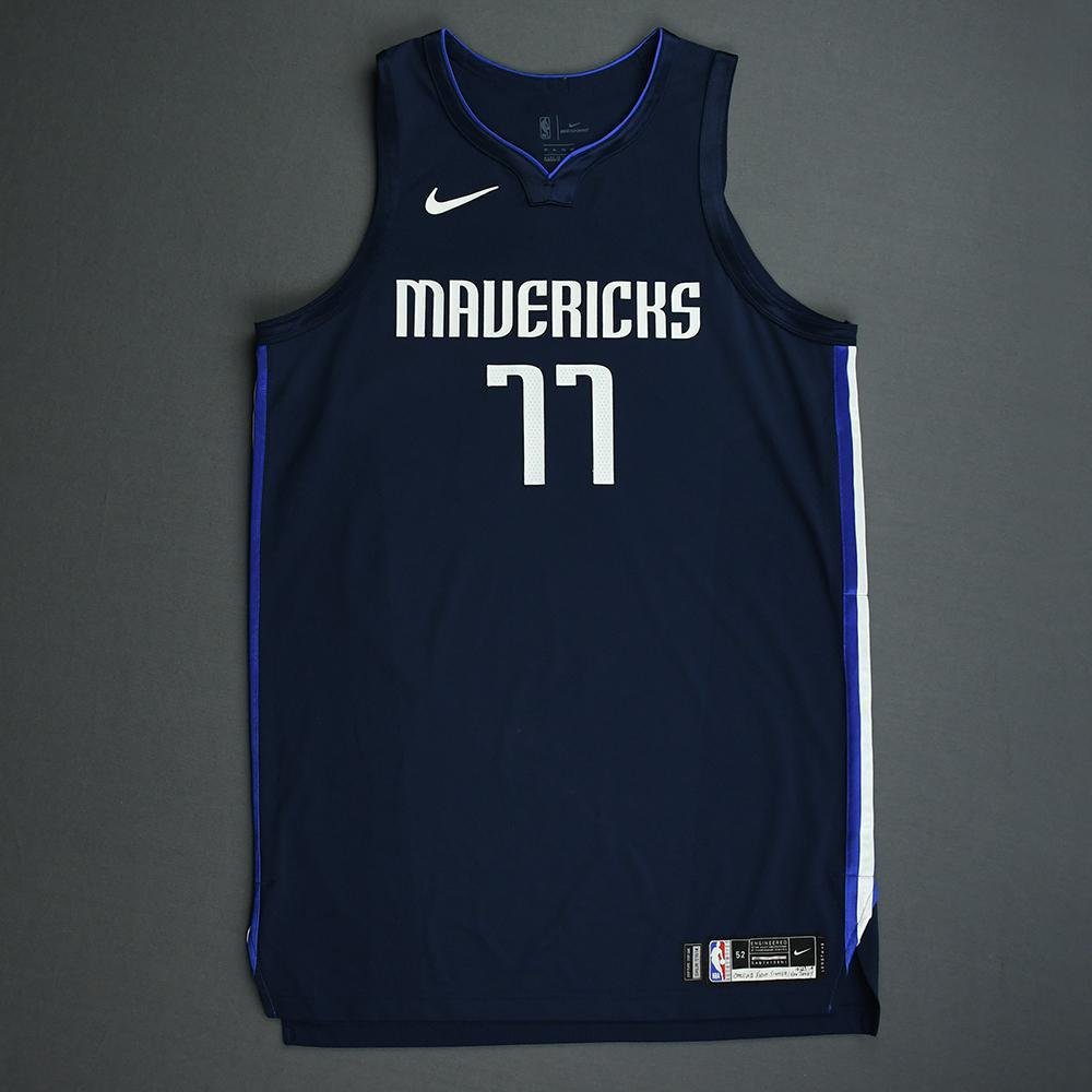 Luka Doncic - Dallas Mavericks - Kia NBA Tip-Off 2019 - Game-Worn Statement Edition Jersey - Scored Game-High 34 Points