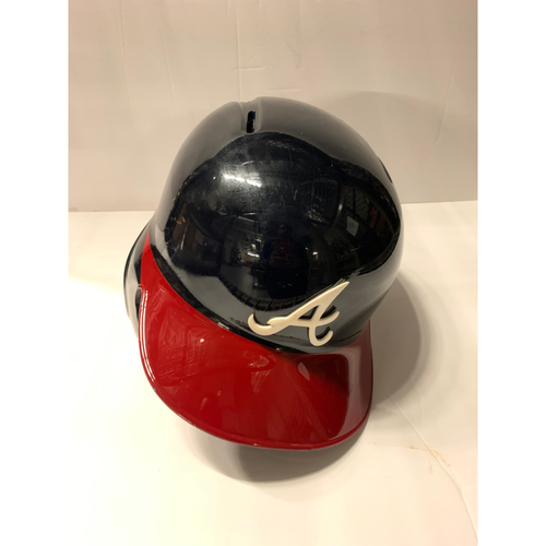Photo of Matt Joyce Game Used Postseason Home Batting Helmet - Worn 10/3/19