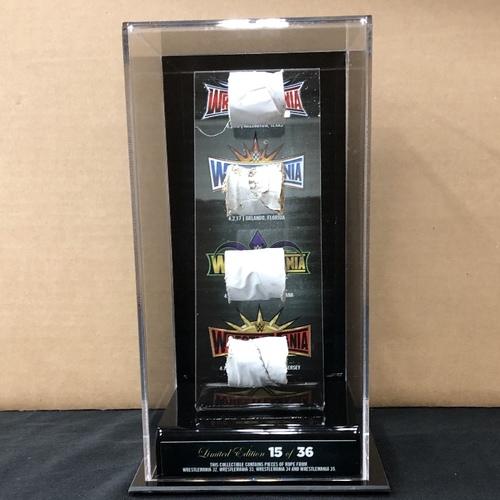 Photo of WrestleMania Event Used 4-Rope Acrylic Display