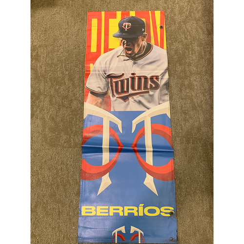 Photo of 2019 Minnesota Twins Team-Issued Street Banner - Jose Berrios