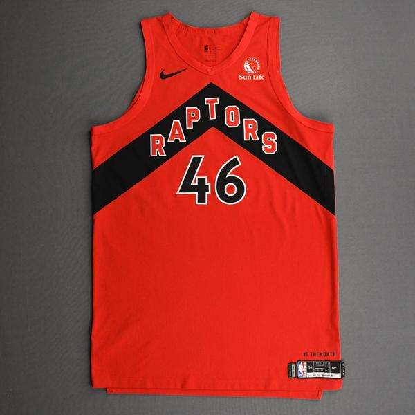 Image of Aron Baynes - Toronto Raptors - Kia NBA Tip-Off 2020 - Game-Worn Icon Edition Jersey