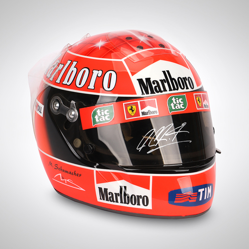 Photo of Michael Schumacher 2001 Signed Replica Helmet