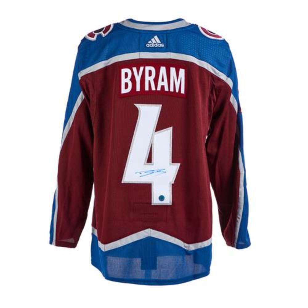 Bowen Byram Colorado Avalanche Autographed Adidas Jersey