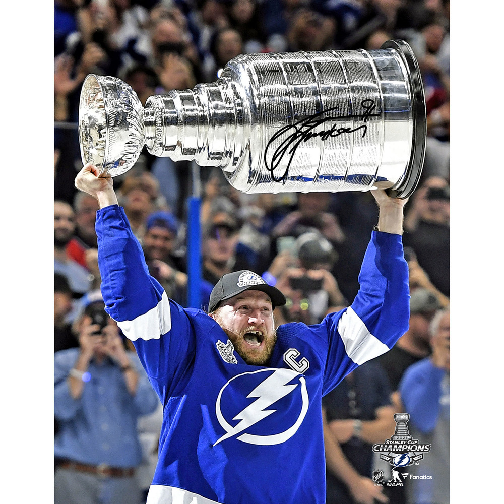 Steven Stamkos Tampa Bay Lightning 2021 Stanley Cup Champions Autographed 11