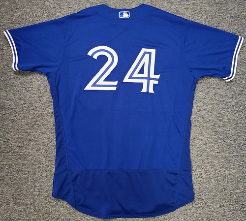 Photo of Authenticated Team Issued Spring Training Jersey: #24 Nate Pearson (2021 Season). Size 50.