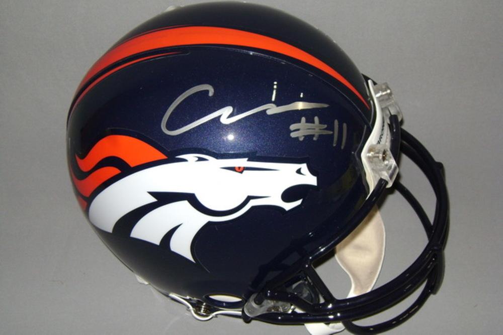 NFL - Broncos Carlos Henderson signed Broncos proline helmet