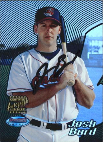 Photo of 2002 Bowman's Best Blue #163 Josh Bard AU