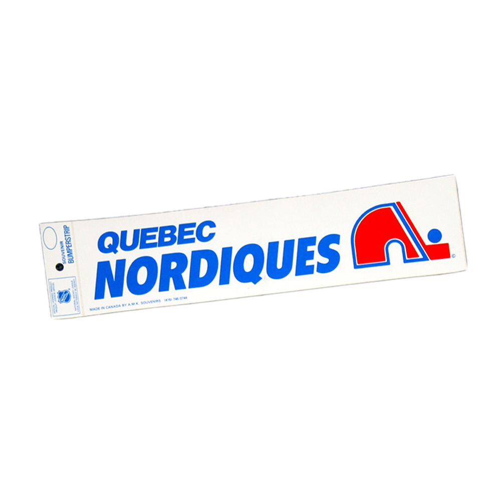 Vintage NHL QUEBEC NORDIQUES Bumper Sticker - Unused - NOS - NM - STYLE B