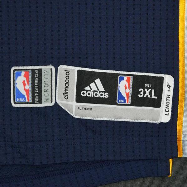 d5b63c2ad97 Zach Randolph - Memphis Grizzlies - Navy Playoffs Game-Worn Jersey ...