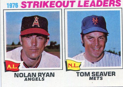 Photo of 1977 Topps #6 Strikeout Leaders/Nolan Ryan/Tom Seaver