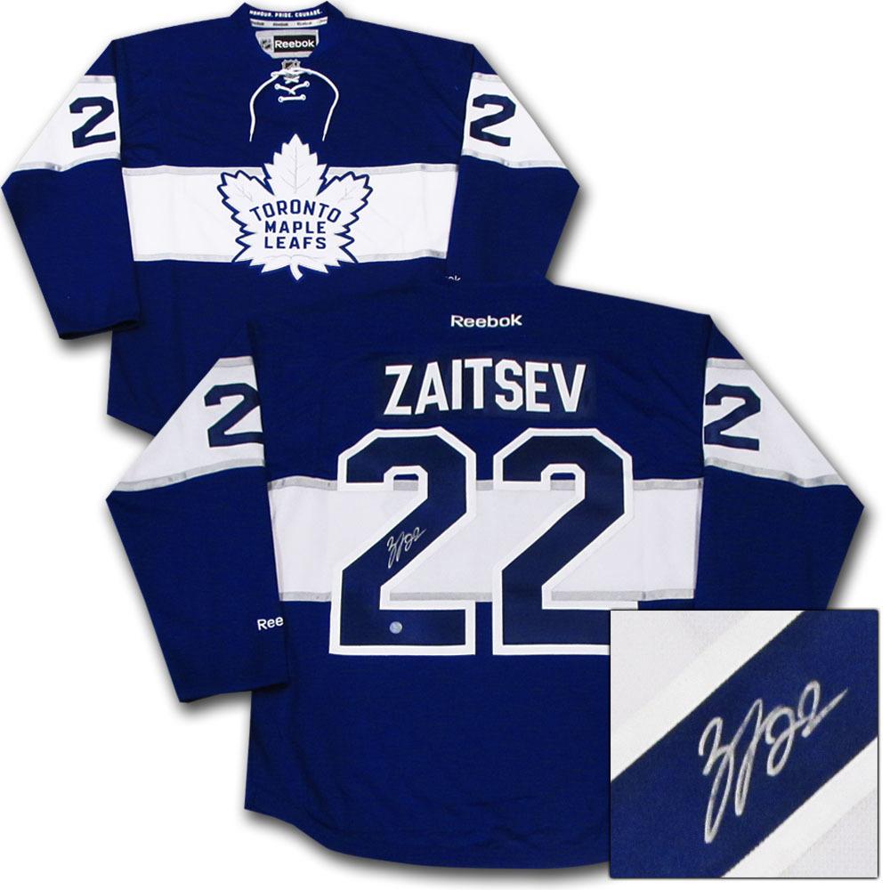 Nikita Zaitsev Autographed Toronto Maple Leafs Centennial Classic Jersey