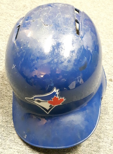 Authenticated Team Issued Helmet - #19 Jose Bautista (July 28, 2015). Size 7 1/4.
