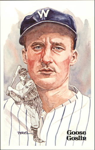 Photo of 1980-02 Perez-Steele Hall of Fame Postcards #109 Goose Goslin  -- HOF Class of 1968