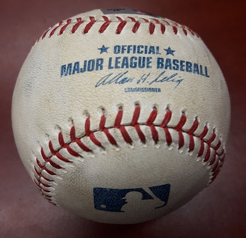 Photo of Authenticated Game Used Baseball - July 22, 2013 vs LA Dodgers: Batter - Andre Ethier, Pitcher - Joshua Johnson, Top of 3, Double