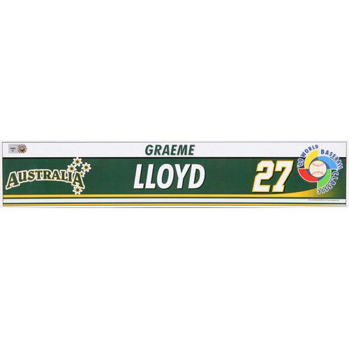 Photo of 2009 WBC: Australia Game-Used Locker Name Plate - #27 Graeme Lloyd