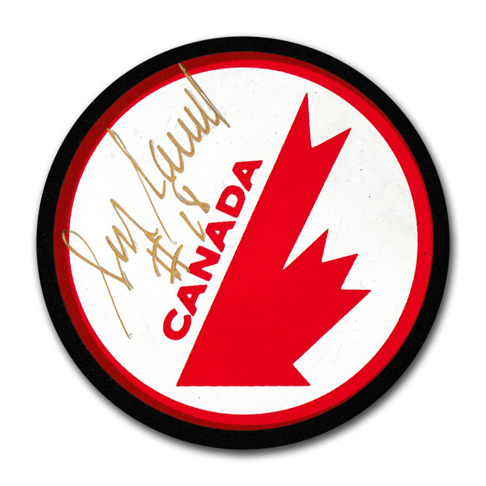 Serge Savard Autographed Team Canada Puck