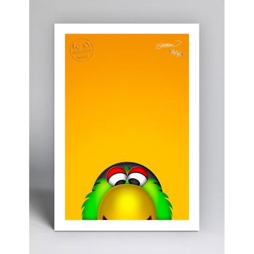 Photo of Pirate Parrot - Limited Edition Minimalist Mascot Art Print by S. Preston  - Pittsburgh Pirates