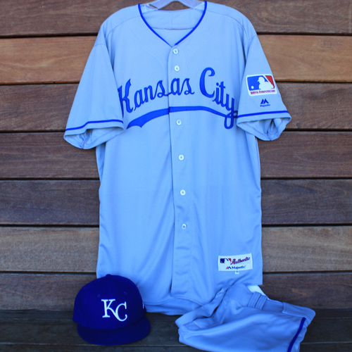 Photo of Game-Used 1969 Throwback Jersey, Pants and Cap: Alex Gordon 344th Career Double and 1,547th Career Hit (Jersey Size 46 - KC @ WSH  - 7/6/19)