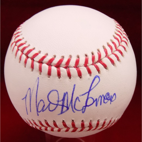 Photo of Mark McLemore Autographed Baseball