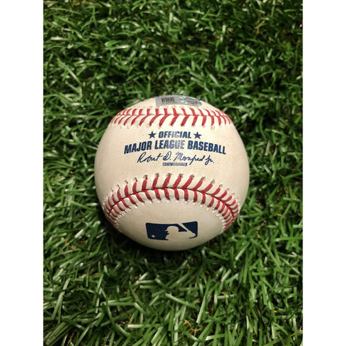 Photo of Game Used Baseball: Gleyber Torres Single off Ryne Stanek - July 5, 2019 v NYY