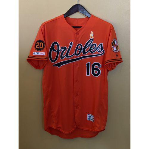 Photo of Trey Mancini - Orange Alternate Jersey: Game-Used