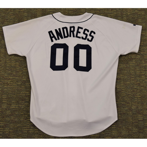 Photo of Brad Andress Detroit Tigers #00 Home Jersey (NOT MLB AUTHENTICATED)
