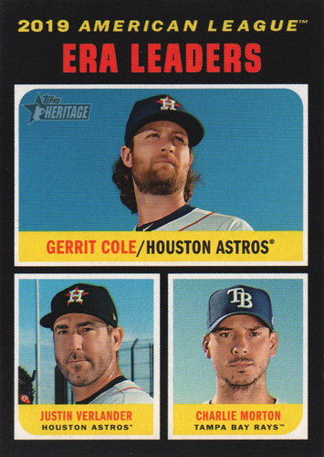 Photo of 2020 Topps Heritage #67 Justin Verlander/Charlie Morton/Gerrit Cole LL