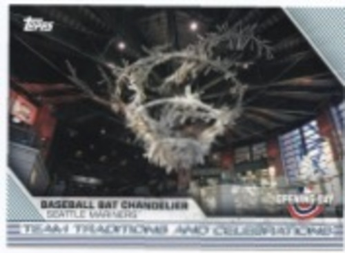 Photo of 2020 Topps Opening Day Team Traditions and Celebrations #TTC10 Baseball Bat Chandelier