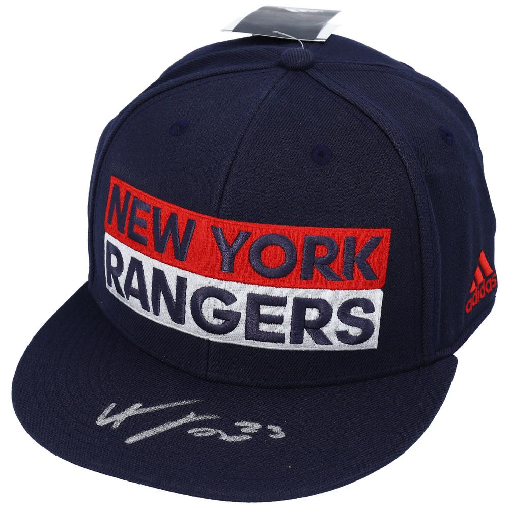 Adam Fox New York Rangers Autographed Blue Wordmark Snapback Cap - NHL Auctions Exclusive