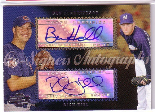 Photo of 2006 Topps Co-Signers Dual Autographs #CS53 Ben Hendrickson/Rich Hill Q
