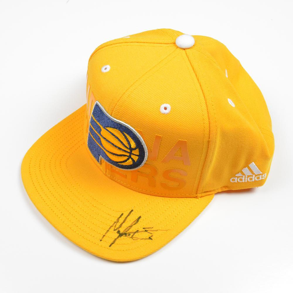 hot sale online 41d1f ec568 Myles Turner - Indiana Pacers - 2015 NBA Draft - Autographed Hat