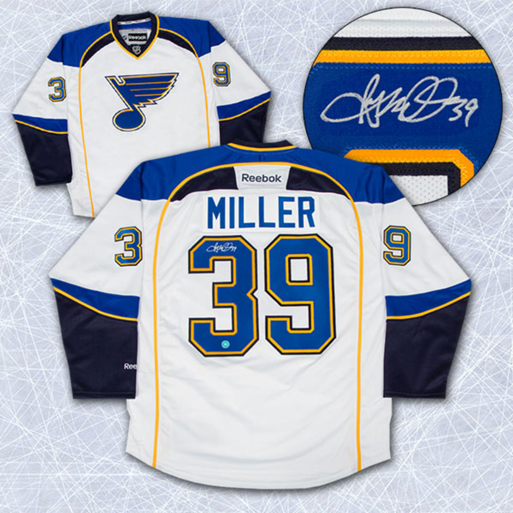 RYAN MILLER St. Louis Blues AUTOGRAPHED White Hockey Jersey