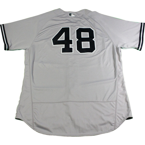 Photo of Chris Carter New York Yankees 2017 Opening Day Game-Used #48 Road Jersey (4/2/2017). Jersey Size - 50